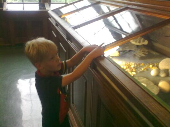 Daniel på museum