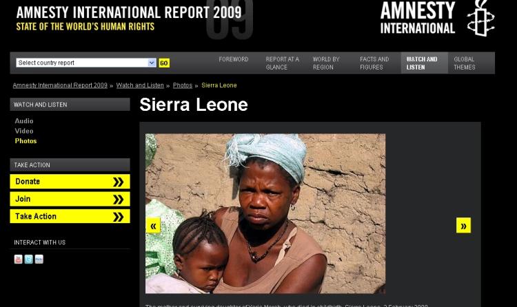 En av åtte mødre i Sierra Leone dør i forbindelse med svangerskap og fødsel.